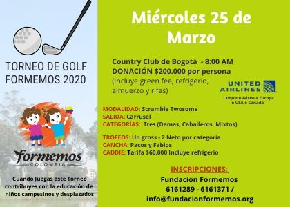 GOLF TOURNAMENT FUNDACIÓN FORMEMOS