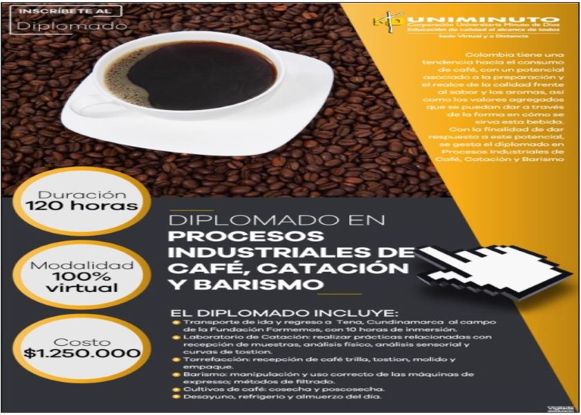 DIPLOMA IN INDUSTRIAL PROCESSES OF COFFEE, CATATION AND BARISM